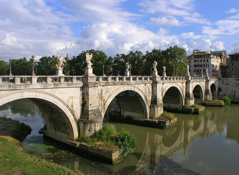 Download Saint Angelo bridge stock photo. Image of water, history - 2539290
