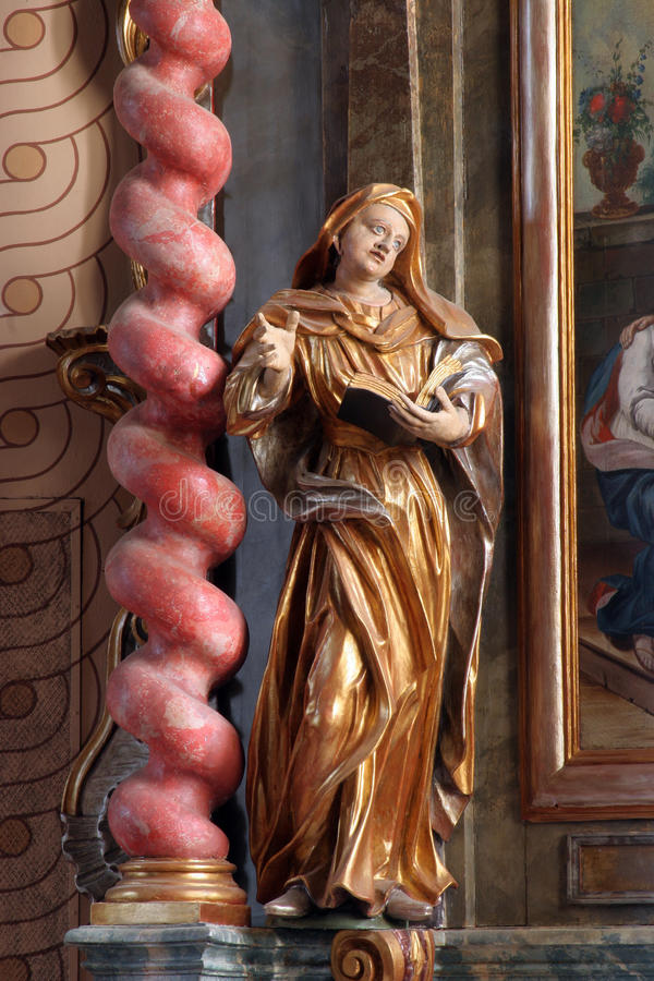 Saint Ann. Statue on the church altar royalty free stock photos