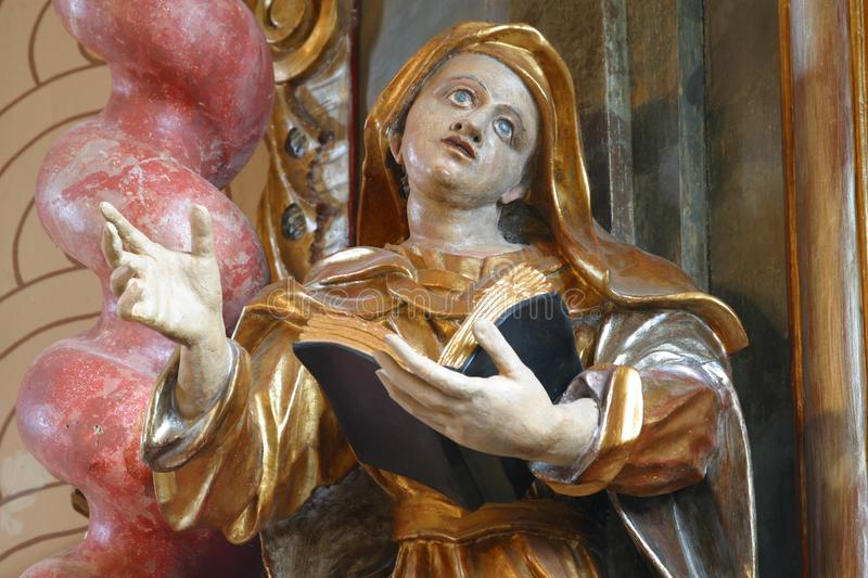 Saint Ann. Statue on the church altar stock photography