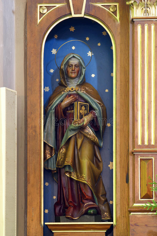 Saint Ann. Statue in the Parish Church of Saint Martin in Scitarjevo, Croatia stock photography