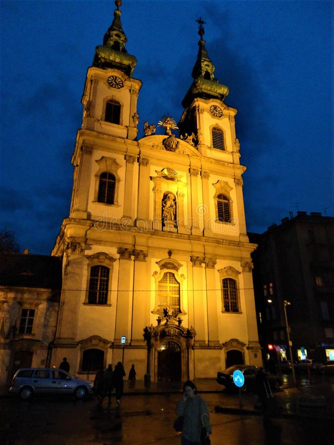 The Saint Anne Parish of Upper Watertown in Budapest city, Hungary. Tourism, religion, beauty and architecture. The Saint Anne Parish of Upper Watertown is a royalty free stock photo
