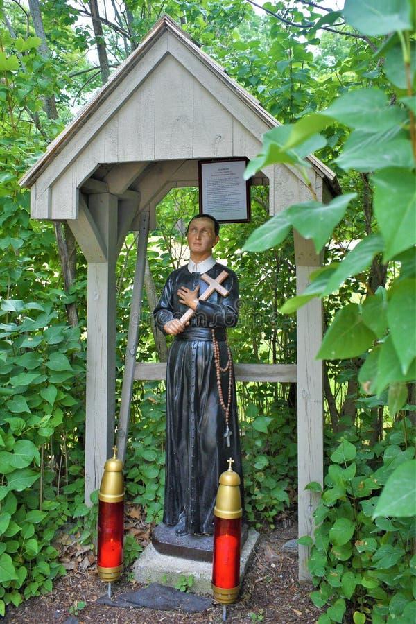 Saint Anne`s Shrine, St. Anne's Shrine, Isle La Motte, Grand Island County, Vermont, United States US. Lake Champlain region. Closeup of one of the many stock image