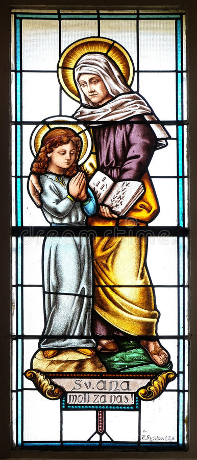 Download Saint Anne stock image. Image of martyr, mary, windowpane - 96398815