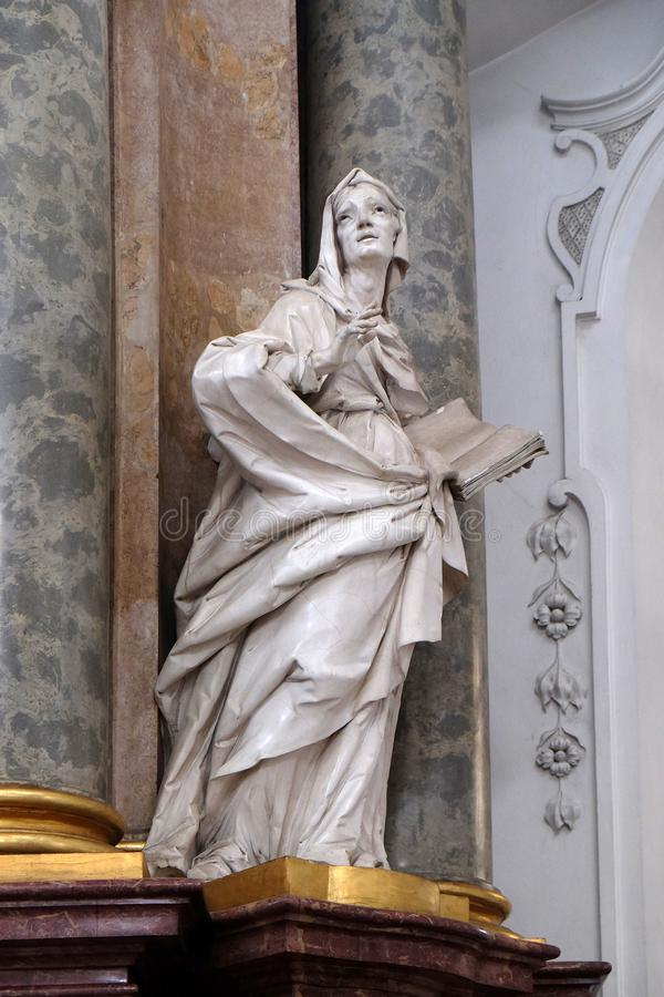 Saint Anne statue, Basilica of St. Martin and Oswald in Weingarten, Germany stock photo