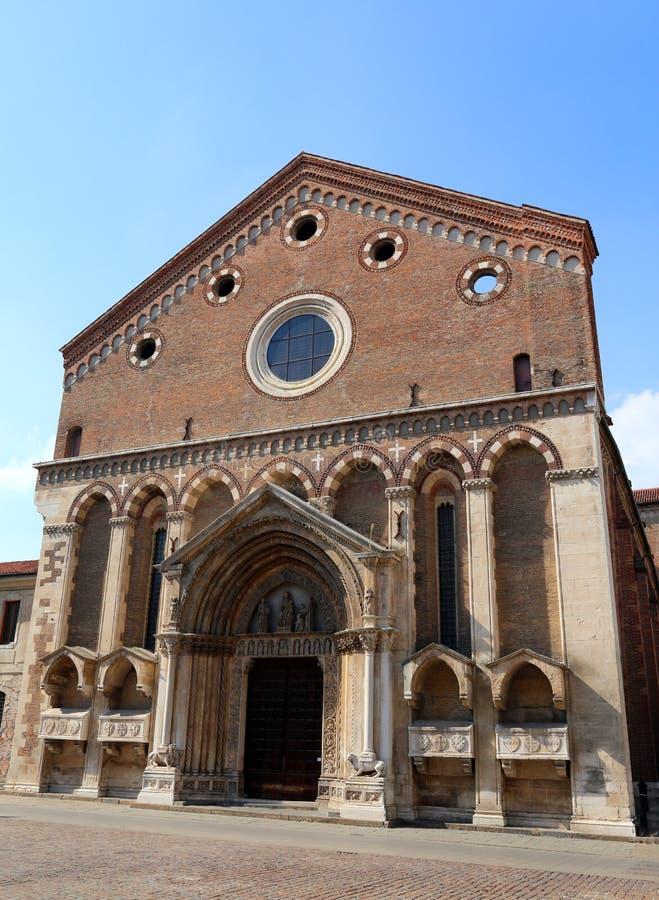 Saint antique Lawrence Church dans la ville historique de Vicence photo stock