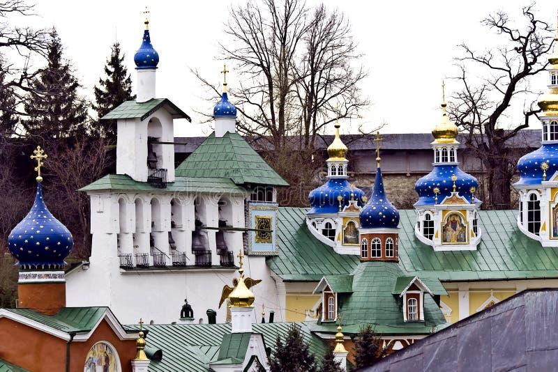 Saint-Assumption Pskovo-Pechersky monastery royalty free stock photo