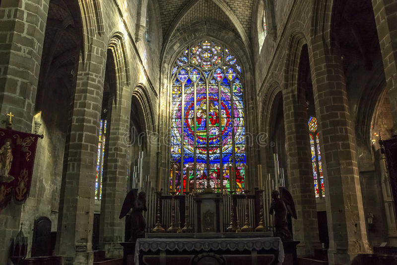 Saint-Aubin church in Guerande, France royalty free stock images