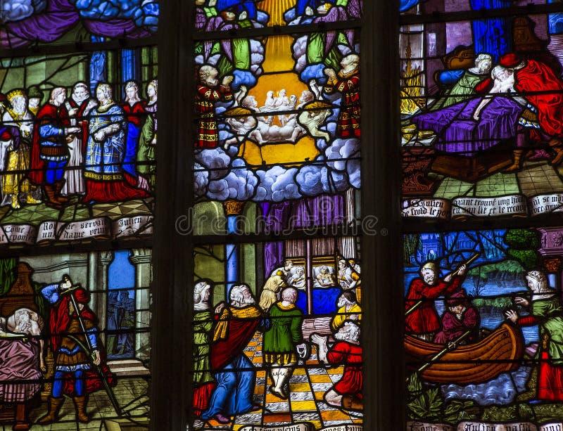 Saint-Aubin church in Guerande, France stock photography