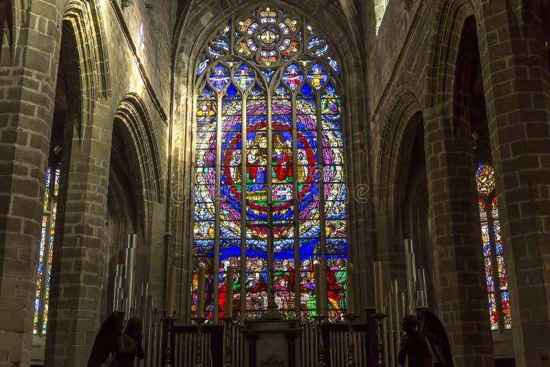 Saint-Aubin church in Guerande, France royalty free stock image