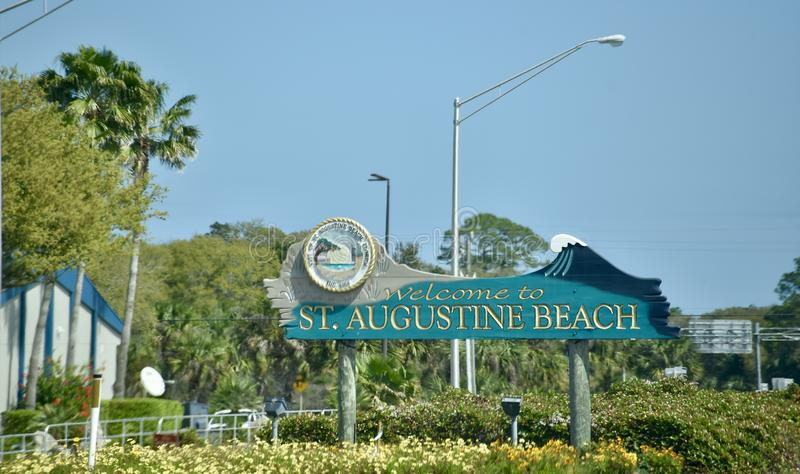 Saint Augustine Beach, St Augustine Florida imagens de stock