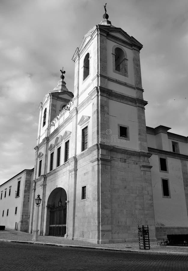 Saint Augustine Convent em preto e branco fotos de stock