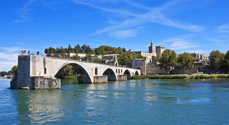 Saint-Bénézet de Pont, Avignon, França fotos de stock