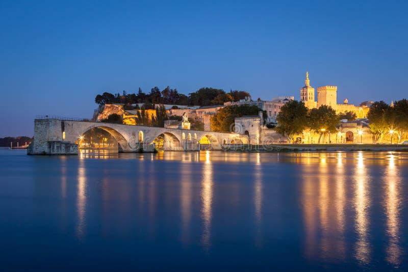 Saint-Bénezet da ponte em Avignon, Provence, França fotografia de stock royalty free