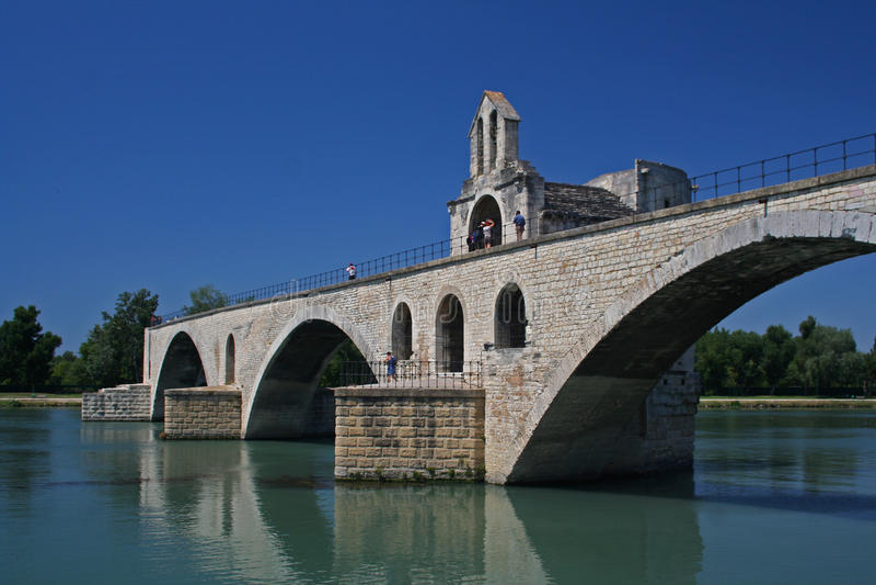 Saint-Bénezet de Pont, Avignon photo libre de droits