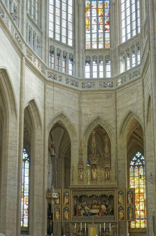 Saint Barbara Church Altar Stock Images