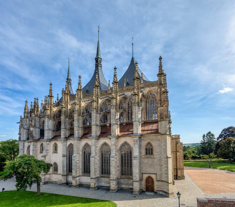 Saint Barbara's Cathedral, Kutna Hora, Tsjechië royalty-vrije stock afbeeldingen