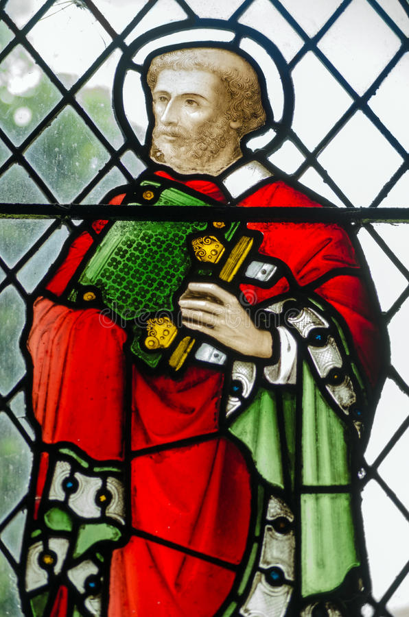 Download Saint Barnabas Stained Glass Window Stock Photo - Image: 35009666