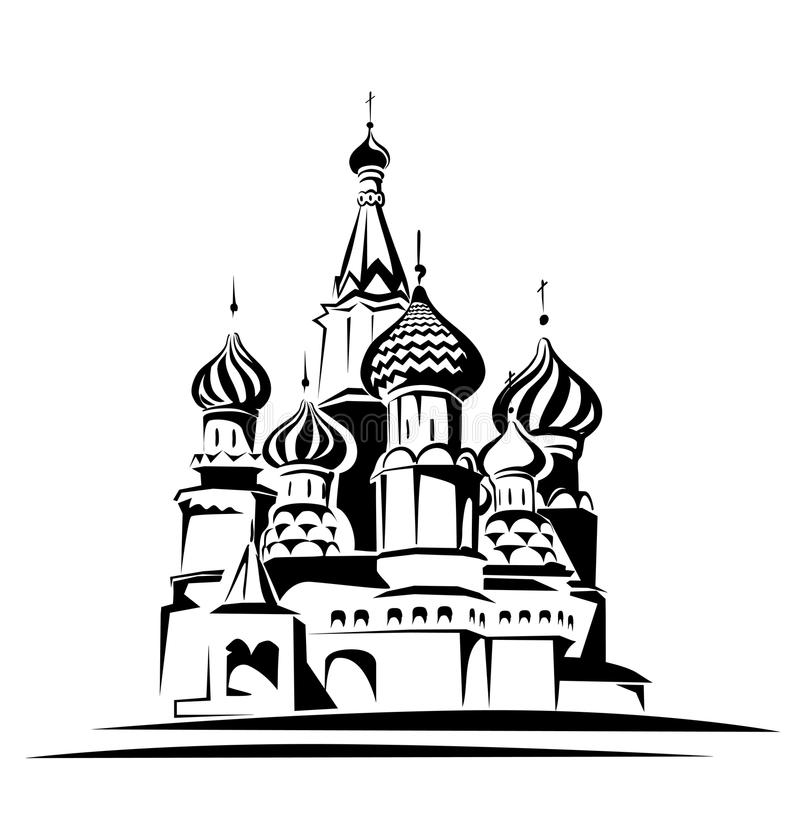 Download Saint basil cathedral stock vector. Image of center, ensemble - 23883021
