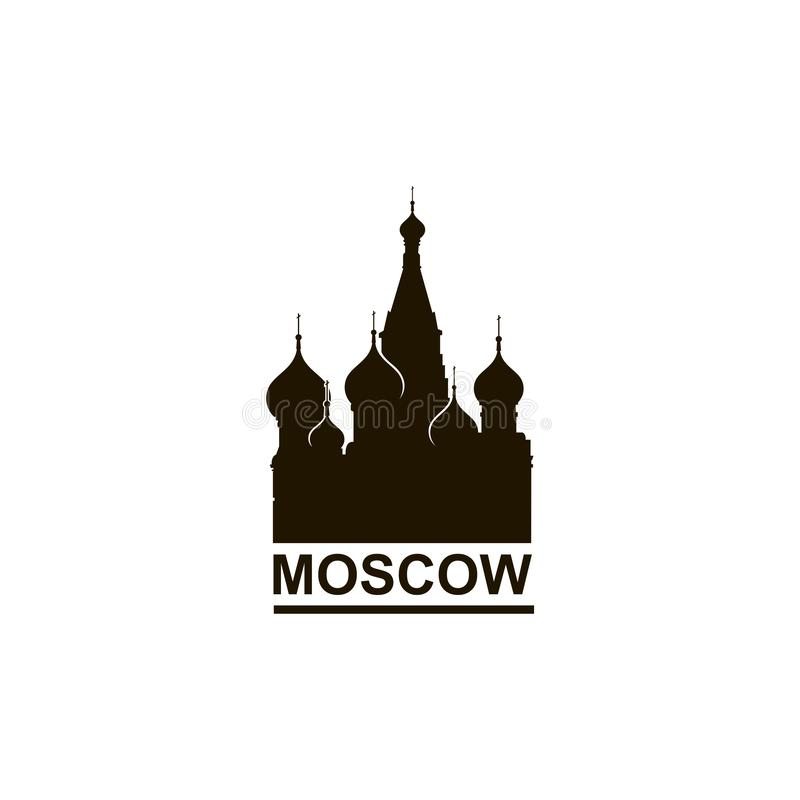 Saint Basil Cathedral de Moscou ilustração royalty free