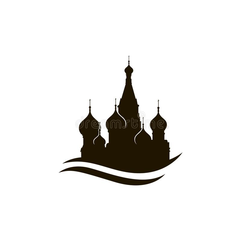 Saint Basil Cathedral de Moscou ilustração stock