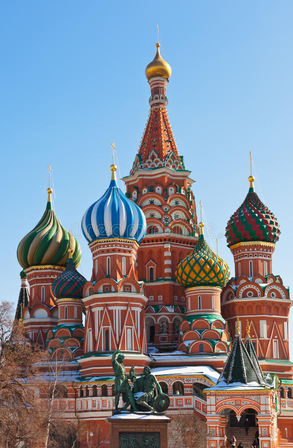 Download Saint Basil Cathedral On Red Square, Moscow Stock Image - Image: 27525011