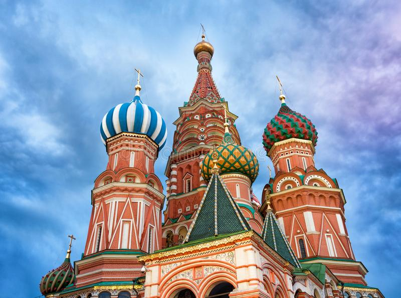 Saint Basil`s Cathedral in Red Square in Moscow, Russia. royalty free stock photos
