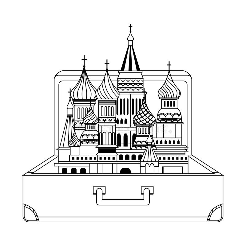 Saint Basil s Cathedral design vector illustration. Saint Basil s Cathedral design, Travel trip vacation tourism and journey theme Vector illustration vector illustration