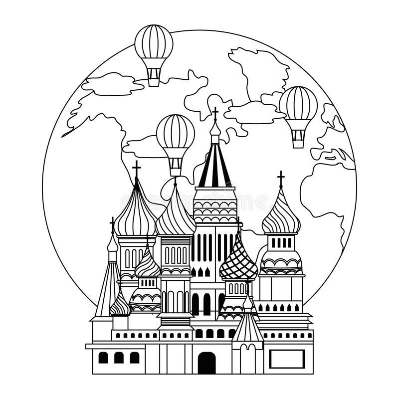 Saint Basil s Cathedral design vector illustration. Saint Basil s Cathedral design, Travel trip vacation tourism and journey theme Vector illustration stock illustration