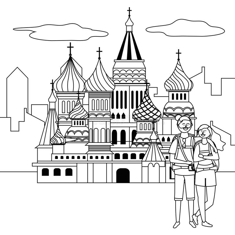 Saint Basil s Cathedral design vector illustration. Saint Basil s Cathedral design, Travel trip vacation tourism and journey theme Vector illustration royalty free illustration
