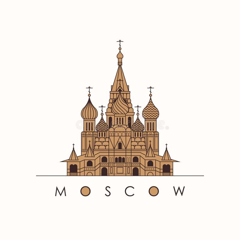 Saint Basil`s Cathedral in Moscow royalty free stock photography