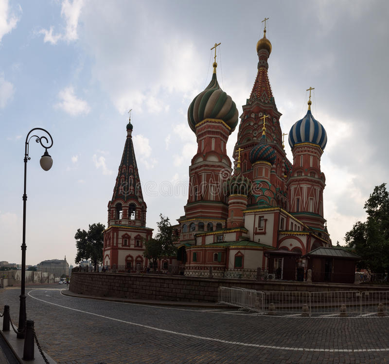 Saint Basil`s Cathedral on the Red Square. Moscow, Russia stock photo