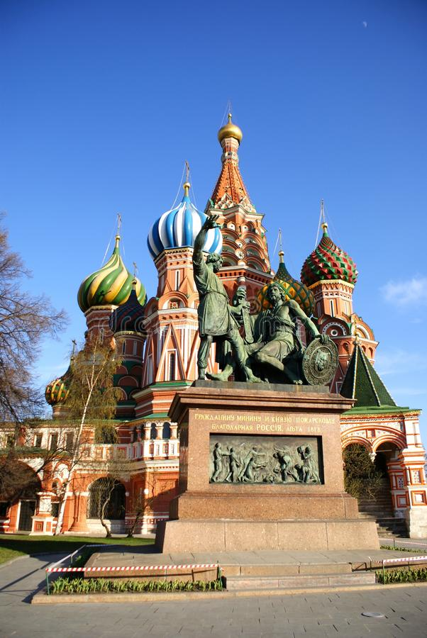 Saint Basil`s Cathedral in Red Square in Moscow, Russia royalty free stock images