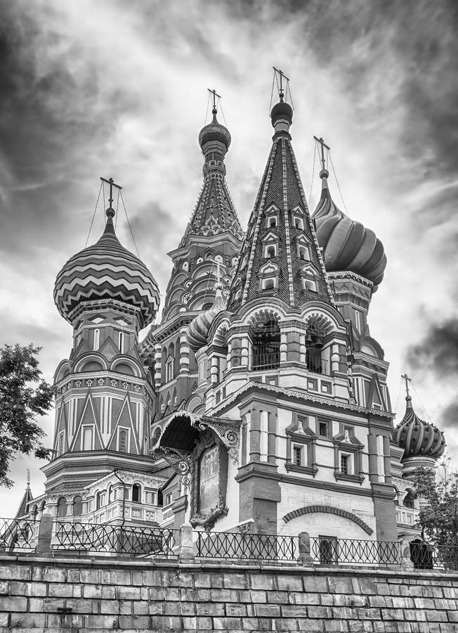 Saint Basil's Cathedral on Red Square in Moscow, Russia. The scenic orthodox Saint Basil's Cathedral, iconic landmark on Red Square in Moscow, Russia royalty free stock photography