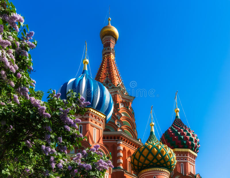 Saint Basil's Cathedral. The Cathedral of Vasily the Blessed, commonly known as Saint Basil's Cathedral, is a former church in Red Square in Moscow, Russia. A stock images
