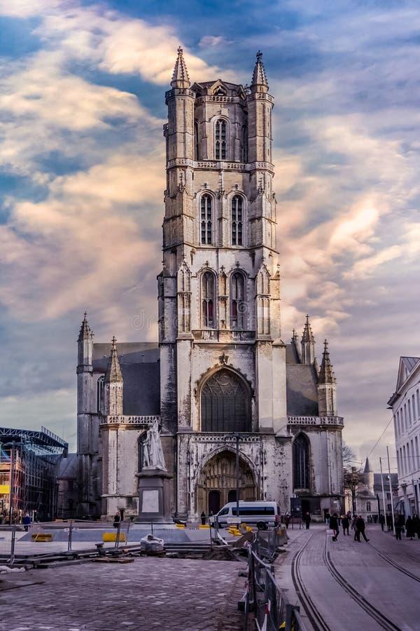 Saint Bavo`s Cathedral royalty free stock photo