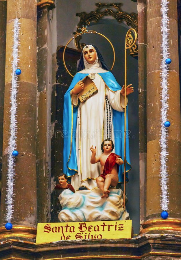 Saint Beatrice Statue Convent Immaculate Conception San Miguel Mexico fotografia de stock