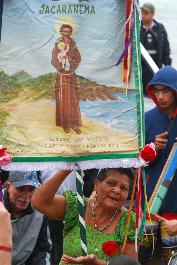 Saint Benedict Pilgrimage stock photo