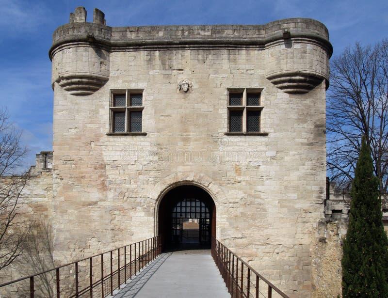 Saint Benezet Bridge: the fortification stock photos