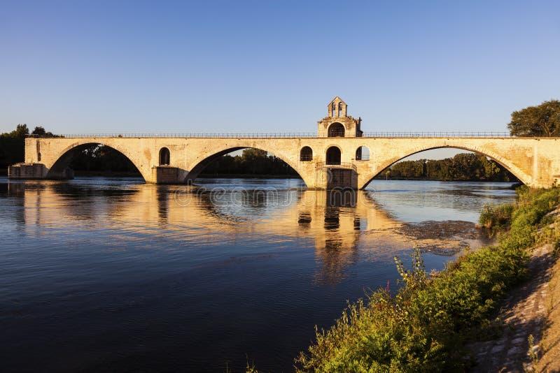 Saint-Benezet de Pont sur le Rhône à Avignon photo libre de droits