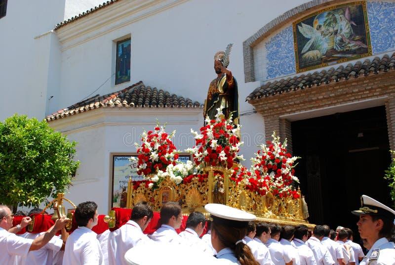 Saint Bernard Float, Marbella imagem de stock royalty free