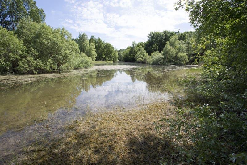 Saint Cassien de lac photo stock