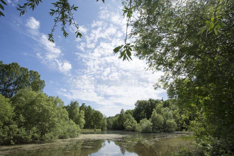 Saint Cassien de lac photos stock