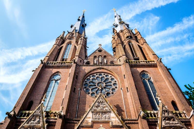 Saint Catharine Church em Eindhoven fotos de stock royalty free