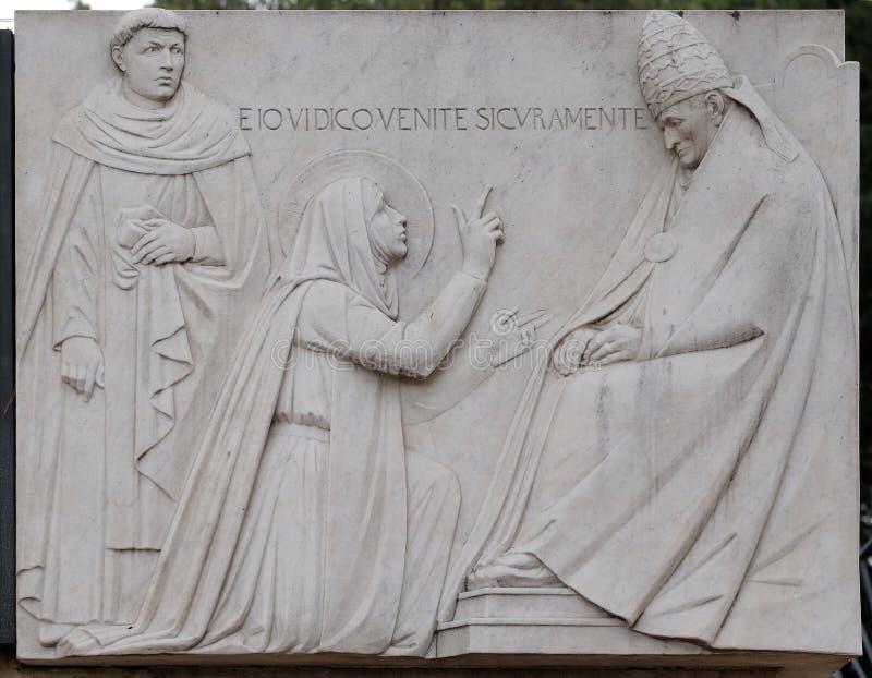 Saint Catherine de Siena imagem de stock