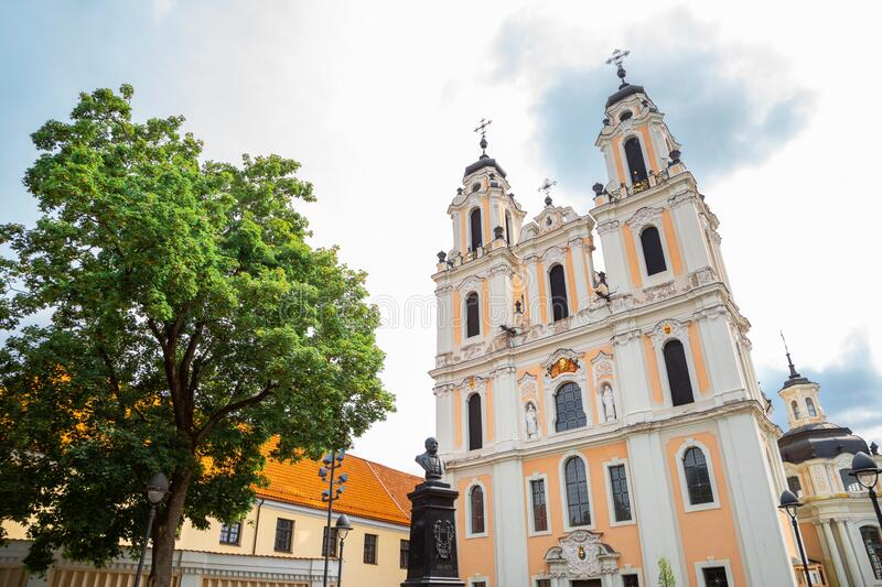 Saint Catherine`s Church in Vilnius, Lithuania. Europe stock photo