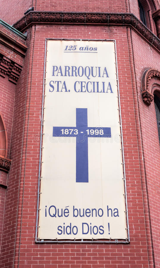 Saint Cecilia Roman Catholic Church in New York City stock images