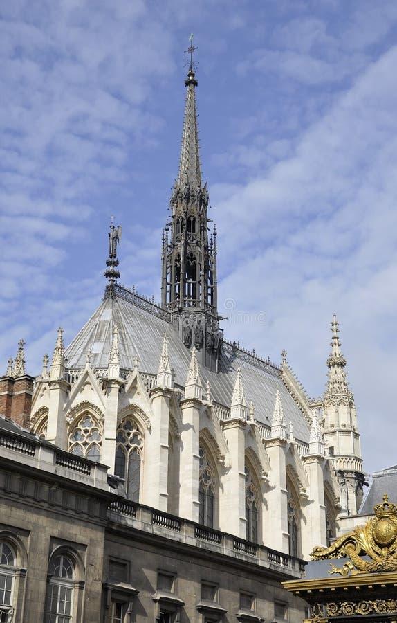 Saint Chapelle Church de Paris em França fotografia de stock royalty free