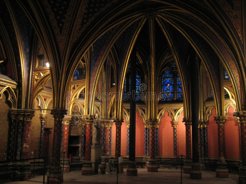 Saint Chapelle - Paris photos stock