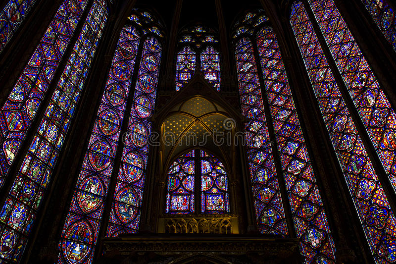 Saint Chapelle Paris fotos de stock