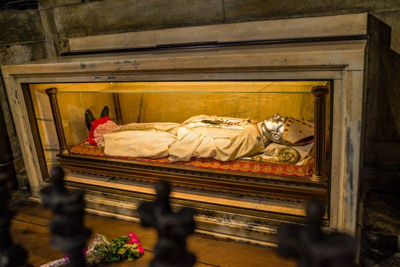 The body relics of St. Charles Carlo Borromeo, Duomo di Milano. stock photo